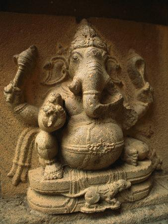Stone Relief Carving of Ganesh