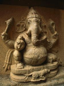 Stone Relief Carving of Ganesh by Martin Gray