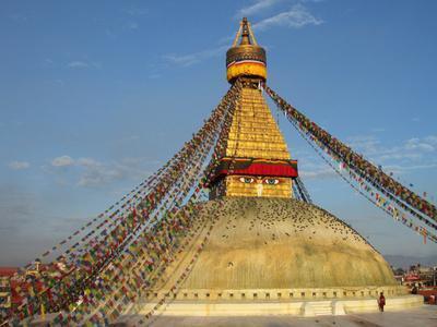 The Bodhnath Stupa in Kathmandu
