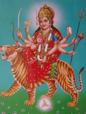 The Durga, Riding a Tiger