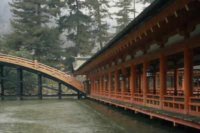 The Emperor's bridge at the Shinto Itsukushima shrine.