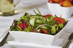 Green Salad in Bowl by Martin Harvey