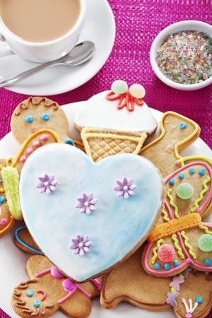 Iced and Decorated Holiday Cookies