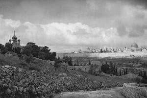 Jeruslem and the Garden of Gethsemane, 1937 by Martin Hurlimann