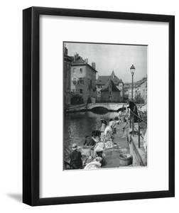 Thiou Canal, Annecy, France, 1937 by Martin Hurlimann