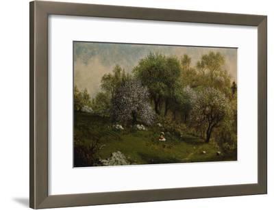 Girl on a Hillside, Apple Blossoms, 1874