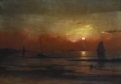 Harbor View at Sunset by Martin Johnson Heade
