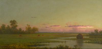 Salt Marsh at Southport, Connecticut, c.1862-1863 by Martin Johnson Heade