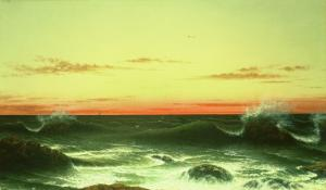 Seascape: Sunset, 1861 by Martin Johnson Heade