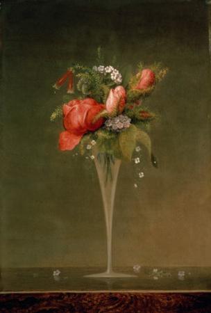 Still Life with Wine Glass, 1860 by Martin Johnson Heade