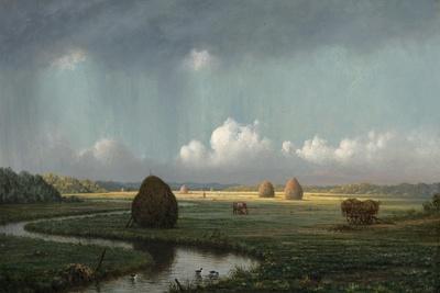 Sudden Shower, Newbury Marshes, 1865-75