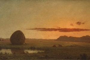 Sunset, Newburyport Meadows, 1863 by Martin Johnson Heade