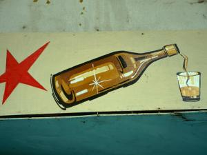 Advertisement for Cuban Rum in Old Havana, Havana, Cuba by Martin Llad??