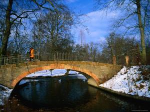 Historic Stone Bridge in Frederiksberg Have, Copenhagen, Denmark by Martin Llad?