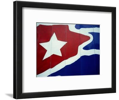 Cuban Flag Painted on Wall, Varadero, Matanzas, Cuba