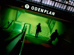 Passengers Entering Odenplan Metro Train Station, Stockholm, Sweden by Martin Lladó