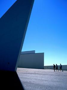 Visitors on their Way to Arken, Museum of Modern Art, Copenhagen, Denmark by Martin Lladó