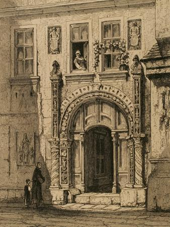 Martin Luther, (1483-1546). German Reformer. Luther House in Eisenach.,1880