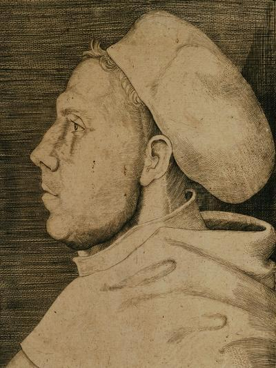 Martin Luther (1483-1546) with Doctor's Cap-Lucas Cranach the Elder-Giclee Print
