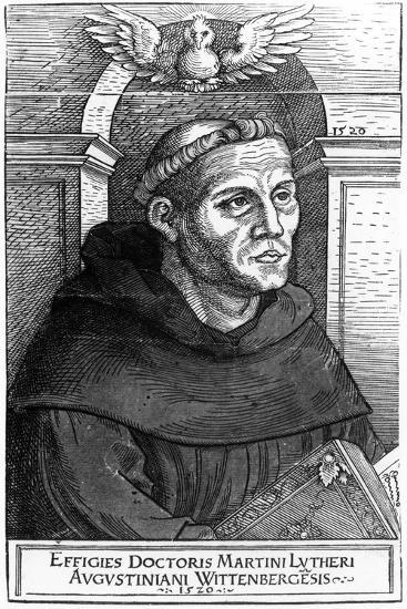 Martin Luther as Augustinian Friar, 1520-24-Lucas the Elder Cranach-Giclee Print