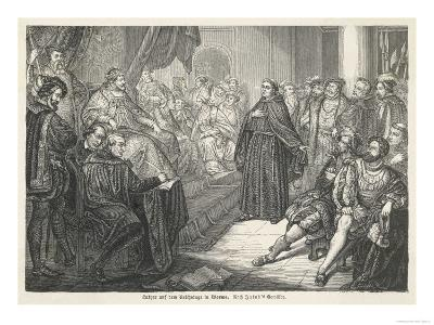 Martin Luther at the Diet of Worms--Giclee Print