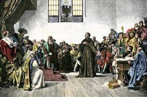 Martin Luther Defending His Views at the Diet of Worms, 1521