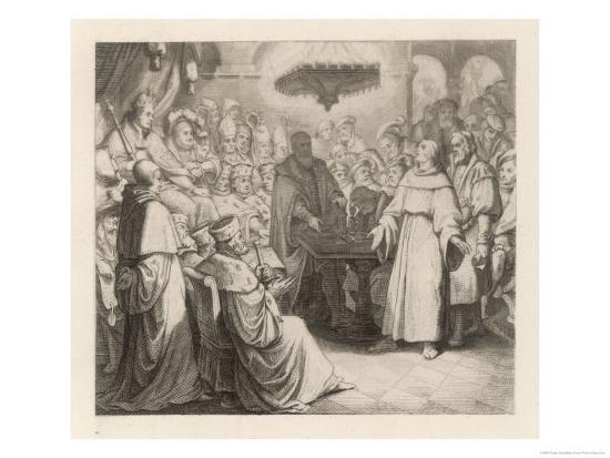 Martin Luther Defends His Views at the Diet of Worms Before the (Catholic) Emperor Karl V-Gustav Konig-Giclee Print