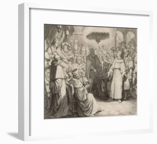 Martin Luther Defends His Views at the Diet of Worms Before the (Catholic) Emperor Karl V-Gustav Konig-Framed Giclee Print
