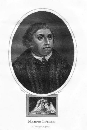 Martin Luther, German Theologian, Augustinian Monk, and Ecclesiastical Reformer, 1814-J Chapman-Giclee Print