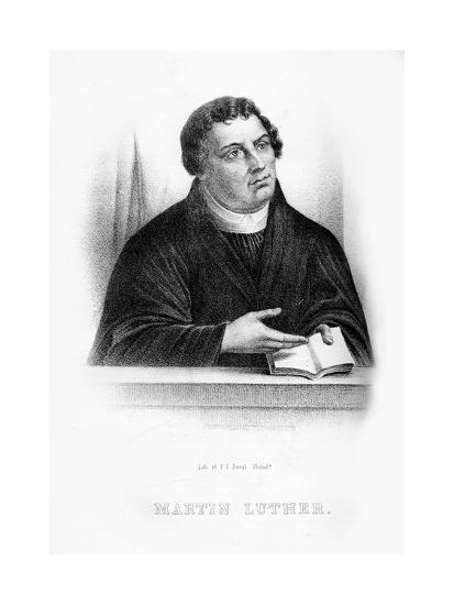 Martin Luther, German Theologian, Augustinian Monk, and Ecclesiastical Reformer--Giclee Print