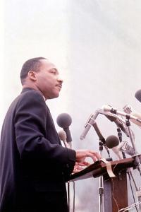 Martin Luther King, American Priest Activist for Civil Right Movement Black Americans Here C. 1965