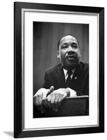 Martin Luther King at a press conference in Washington, D.C., 1964-Marion S^ Trikosko-Framed Photographic Print