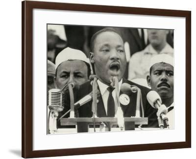 Martin Luther King Delivers His Famous 'I Have a Dream' Speech, March on Washington, 1963--Framed Photo
