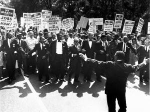 Martin Luther King, Jr and Whitney Young March on Washington for Jobs and Freedom