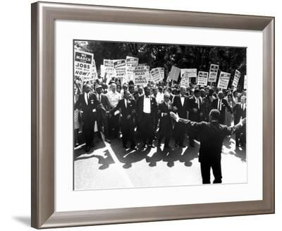 Martin Luther King, Jr and Whitney Young March on Washington for Jobs and Freedom--Framed Premium Photographic Print