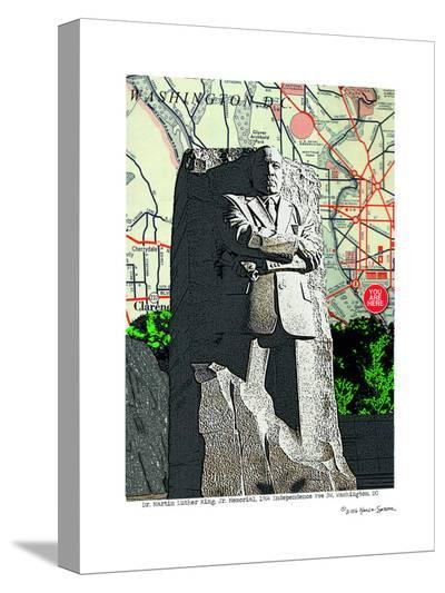 Martin Luther King Sculpture Washington Dc--Stretched Canvas Print