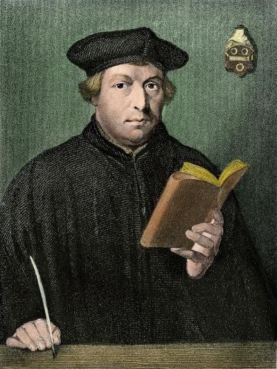 Martin Luther Portrait--Giclee Print