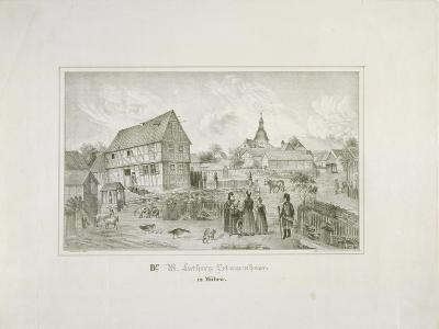 Martin Luther's Ancestral Home in Moehra, Printed by C. Rohlacher-C. Hertel-Giclee Print
