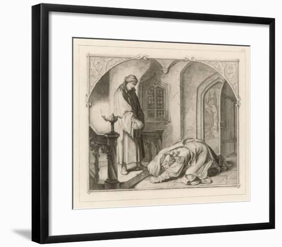 Martin Luther with Hans Kohlhase-Gustav Konig-Framed Giclee Print