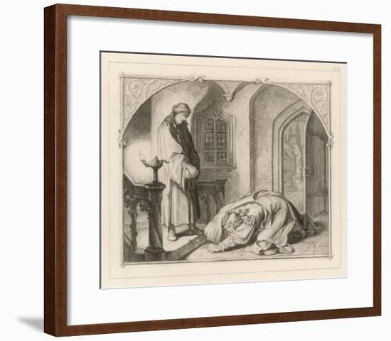 Martin Luther with Hans Kohlhase-Gustav Konig-Framed Giclee Print