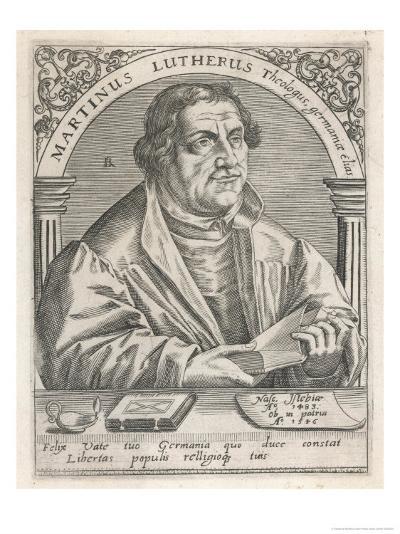 Martin Luther-Theodor de Bry-Giclee Print
