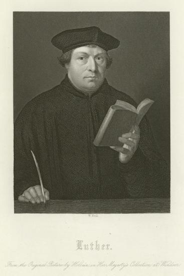 Martin Luther-Hans Holbein the Younger-Giclee Print