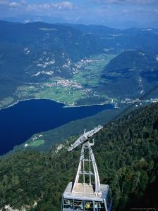 Cable-Car Having Just Left the Upper Station, Slovenia by Martin Moos