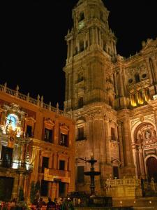 Cathedral with Palacio Episcopal, Malaga, Spain by Martin Moos