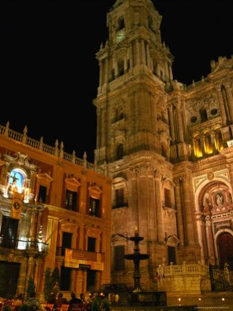 Cathedral with Palacio Episcopal, Malaga, Spain