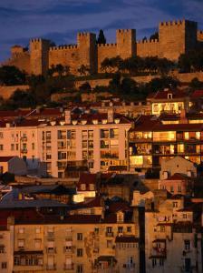 City with Castelo De Sao Jorge, Lisbon, Portugal by Martin Moos