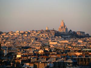 Cityscape with Sacre-Couer Basilica, Paris, France by Martin Moos