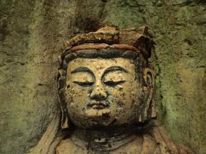 Dainichi Buddha Head in Usuki, Japan by Martin Moos