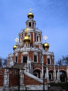 Exterior of Church of the Saviour in Fili, Moscow, Russia by Martin Moos