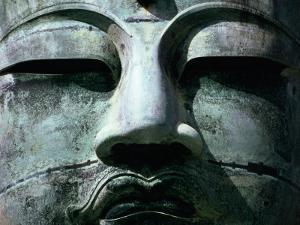 Face of Daibutsu (Great Buddha) Statue, Kamakura, Japan by Martin Moos